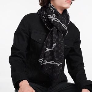Monogram chain scarf